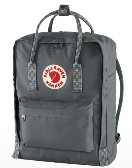 Fjällräven Kånken Backpack in Super Grey/Chess Pattern