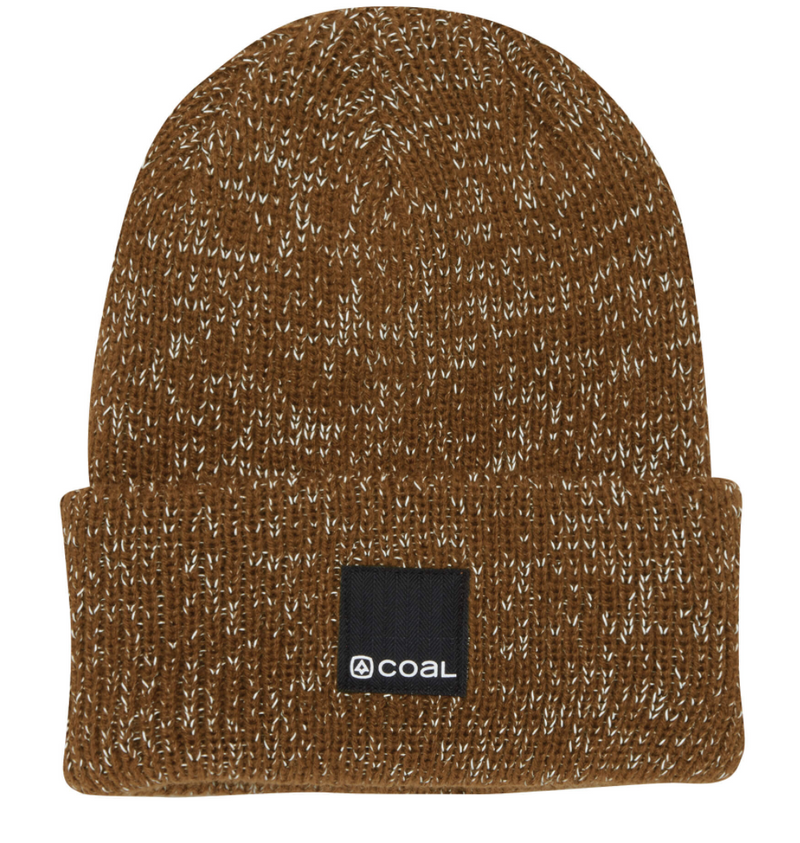 Coal Burlington Reflective Beanie - Light Brown