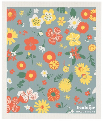 Now Designs Swedish Dishcloth - Flowers of Month