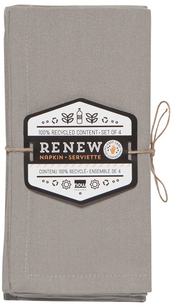 Now Designs Renew Napkins Set of 4 - Cobblestone