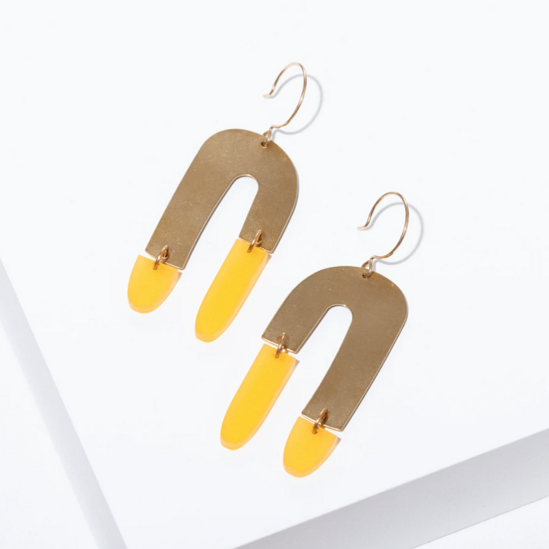 Copy of Copy of Larissa Loden Shea Earrings - Yellow