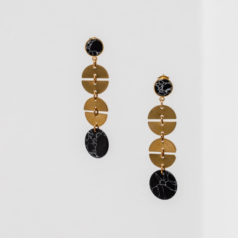 Larissa Loden Vie Earrings - Black