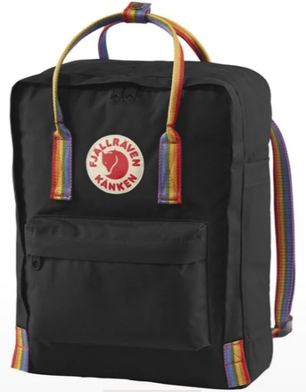 Fjällräven Kånken Rainbow Backpack - Black