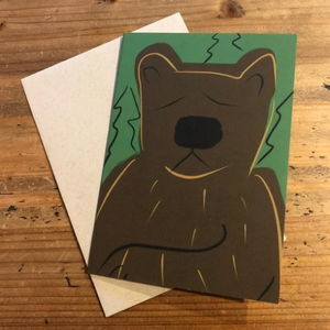Isabell's Robot Greeting Card - Bear