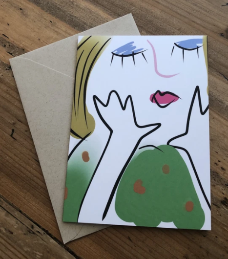 Isabell's Robot Greeting Card - Thoughtful