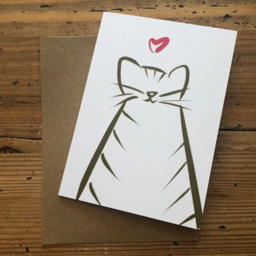 Isabell's Robot Greeting Card - Cat Love