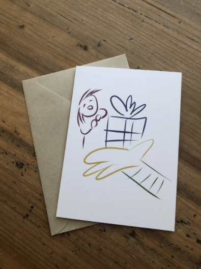 Isabell's Robot Greeting Card - Prize