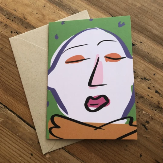 Isabell's Robot Greeting Card - Bald