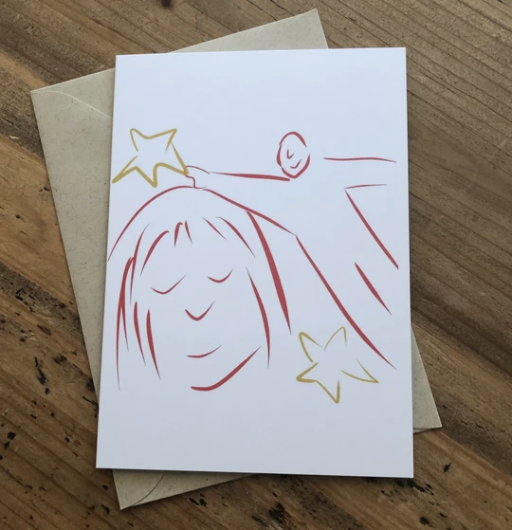 Isabell's Robot Greeting Card - Star