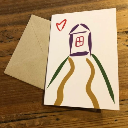 Isabell's Robot Greeting Card - Home Sweet Home