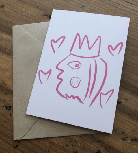 Isabell's Robot Greeting Card - Queen For The Day