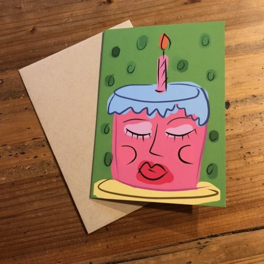 Isabell's Robot Greeting Card - You Take The Cake