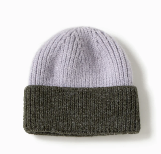 LOOK Cotton Candy Two Tone Beanie - Green