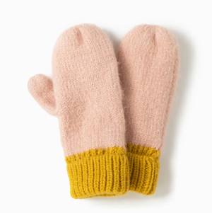 LOOK Cotton Candy Two Tone Mittens - Yellow