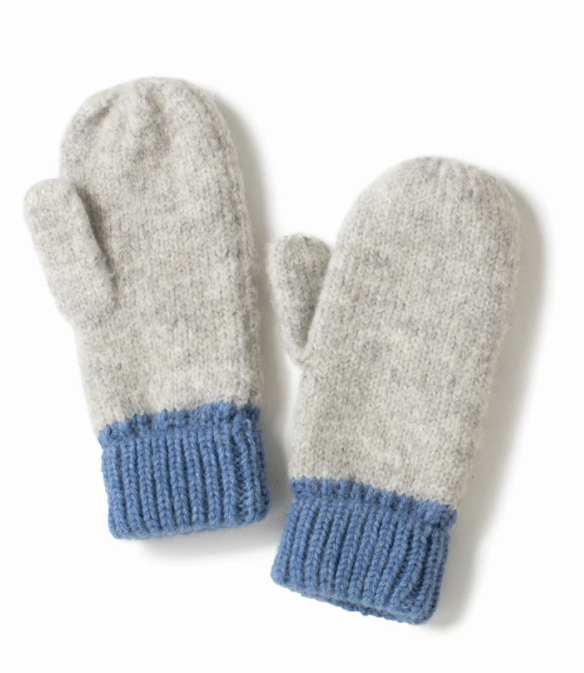 LOOK Cotton Candy Two Tone Mittens - Blue