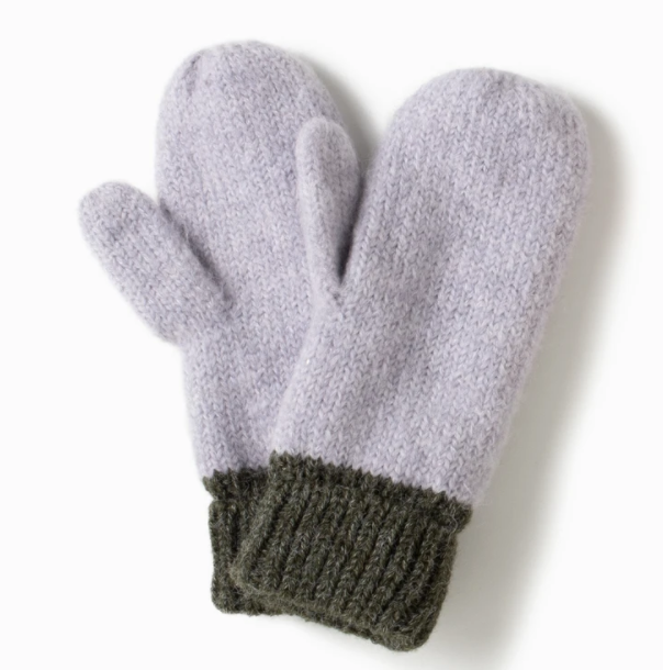 LOOK Cotton Candy Two Tone Mittens - Green