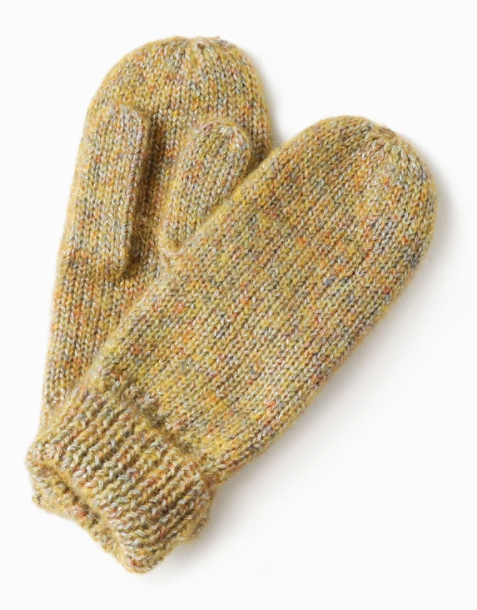 LOOK Sparkled Confetti Mittens - Yellow