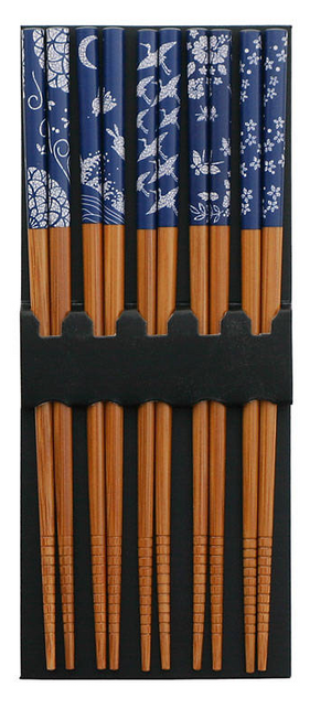 MIYA Chopstick Set - Blue & White