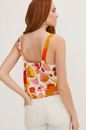 Veronica Boxy Button Tank