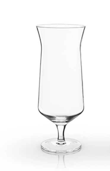 Viski Angled Hurricane Glass