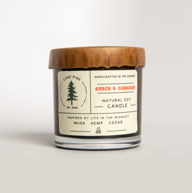 Amber & Cannabis Soy Candle
