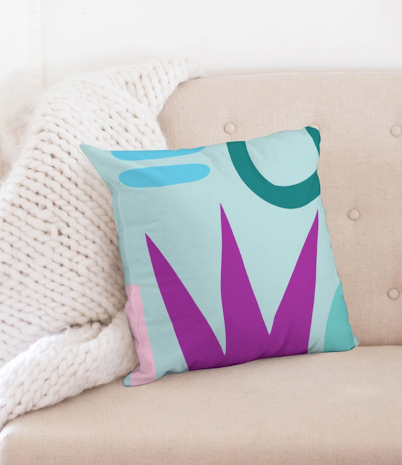 Funk Du Jour Abstract Funk Throw Pillow