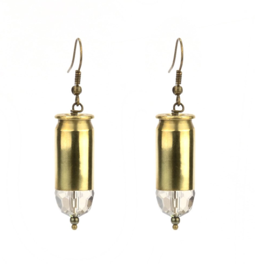 House of Cache Brass Bullet Earring
