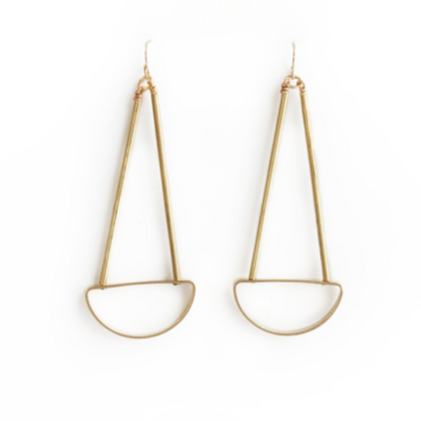 Spire Earrings - Circle
