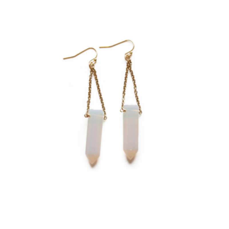 Larissa Loden Pendulum Earrings in Opalite