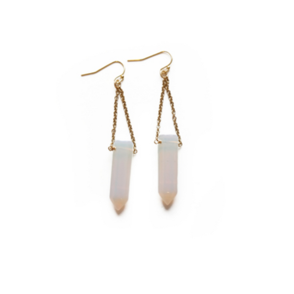 Pendulum Earrings in Opalite