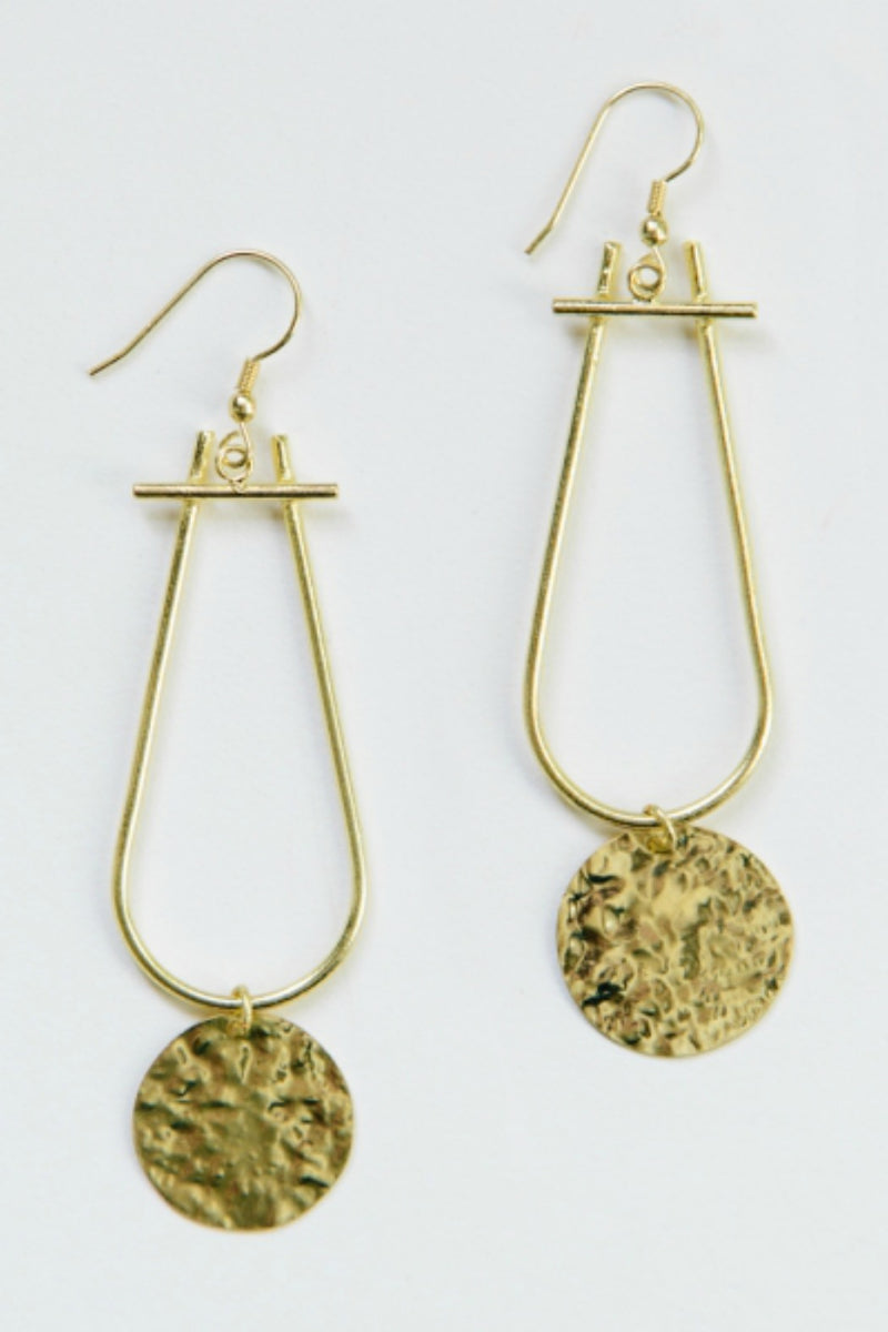 Mata Traders Sun Drop Earrings in Gold