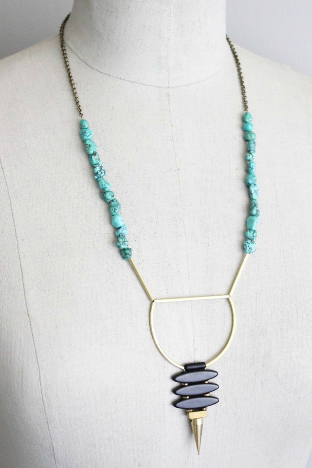 David Aubrey Handmade Turquoise Magnesite Necklace