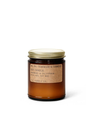 P.F. Candle Co. Mini Soy Candle - Teakwood & Tobacco