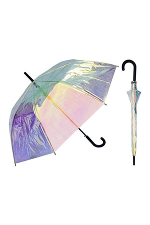 "RainStoppers 46"" Iridescent Umbrella"