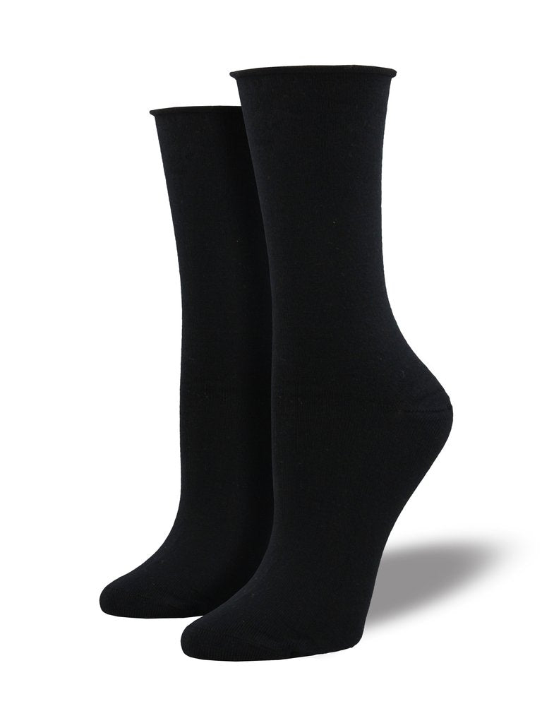 Socksmith Women's Bamboo Solid Socks - Black