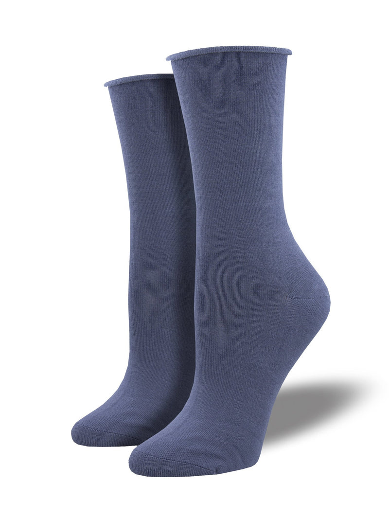 Socksmith Women's Bamboo Solid Socks - Periwinkle