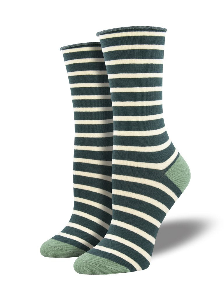 Socksmith Women's Bamboo Sailor Stripe Socks - Green