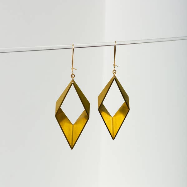 Larissa Loden Small Diamond Brass Earrings