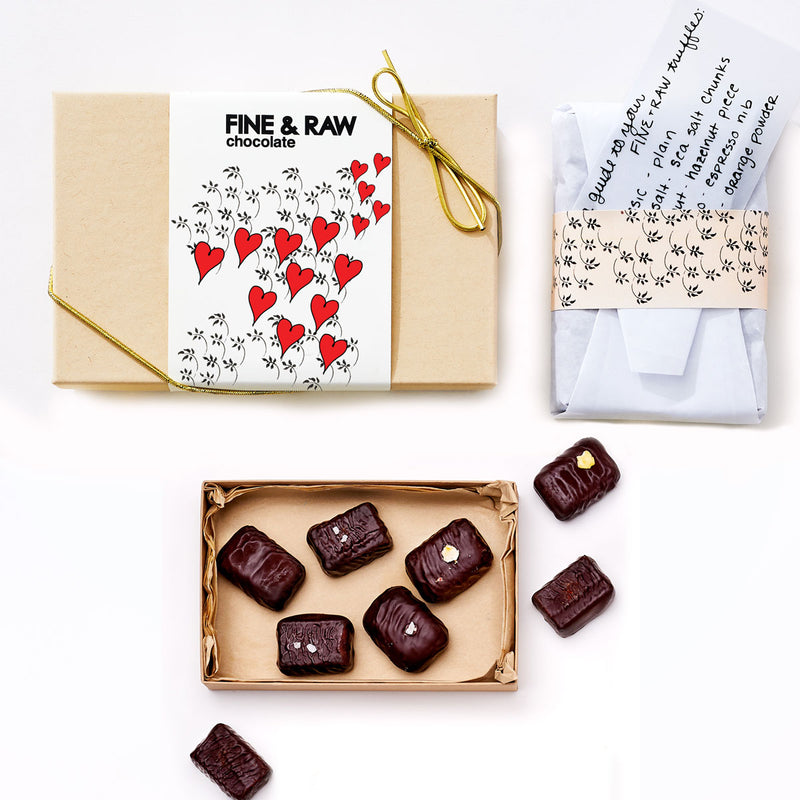 Fine & Raw Valentine's 8 pc. Mixed Truffle Box