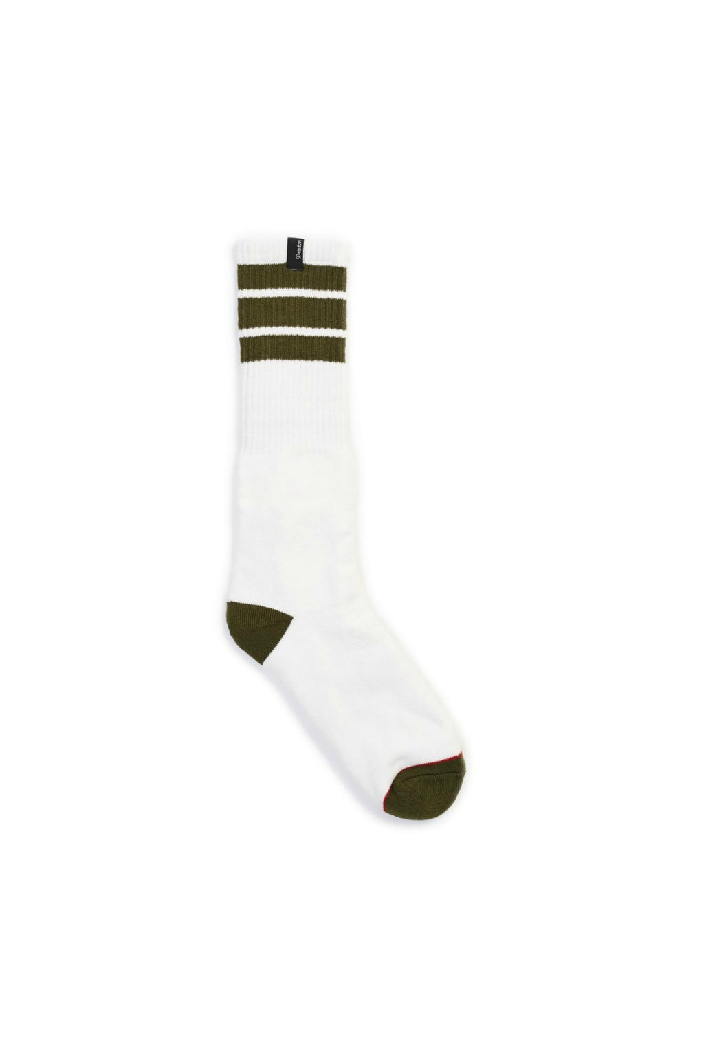 Brixton Alameda Socks in White and Olive