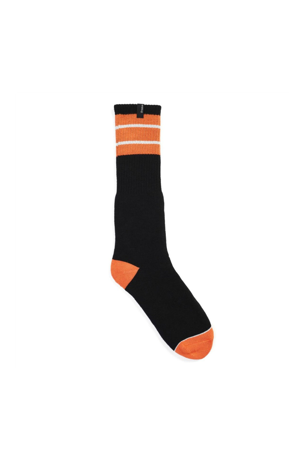 Brixton Alameda Socks in Orange and Black