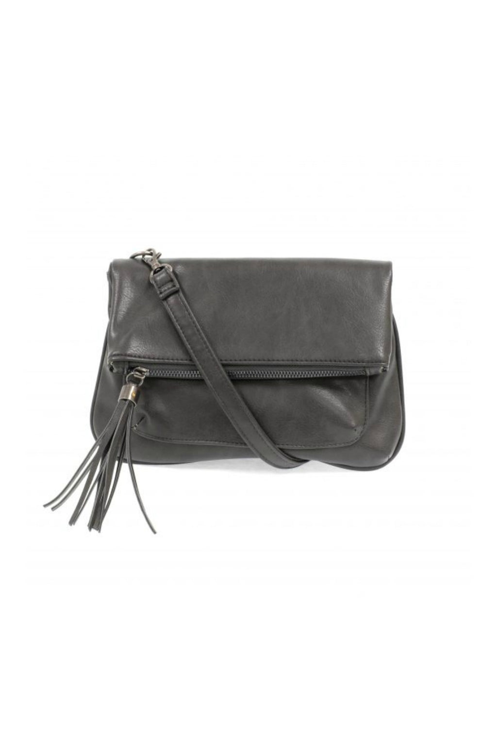 Joy Susan Alice Crossbody w/ Tassel - Charcoal