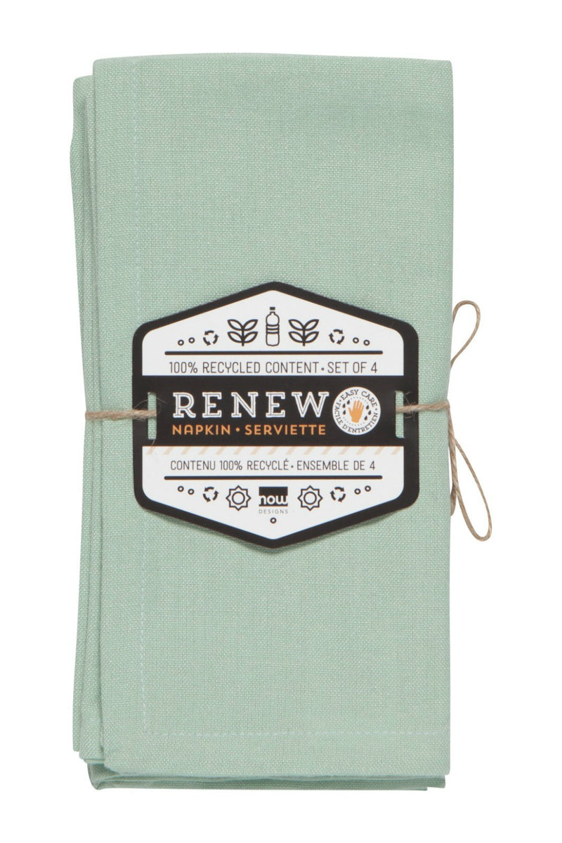 Now Designs Renew Napkins Set of 4 - Aloe