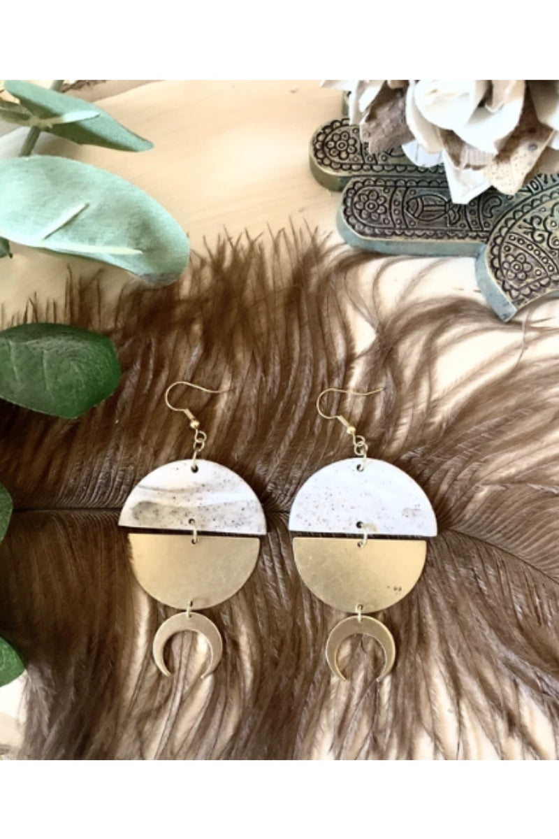 Refiner Jewelry Alya Mixed Media Earrings