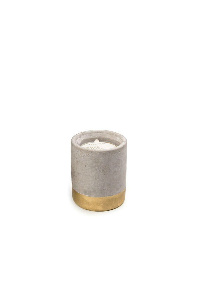 Paddywax Urban Concrete - Amber & Smoke Candle