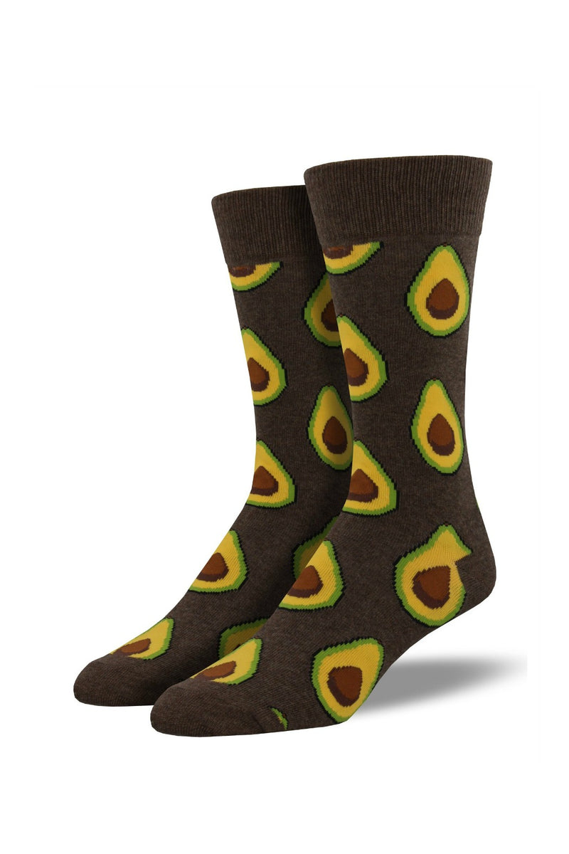 Socksmith Men's Bamboo Avocado Socks - Brown Heather