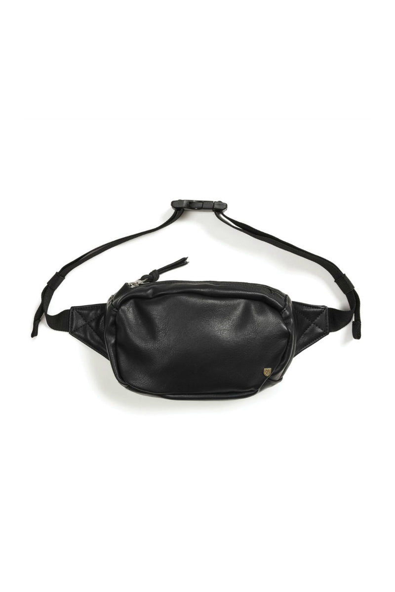 Brixton Delilah Hip Pack - Black Faux Leather