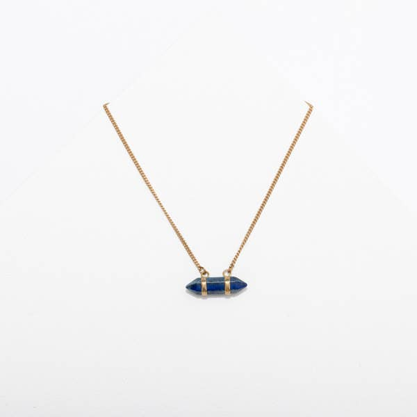 Larissa Loden Edged Lapis Necklace