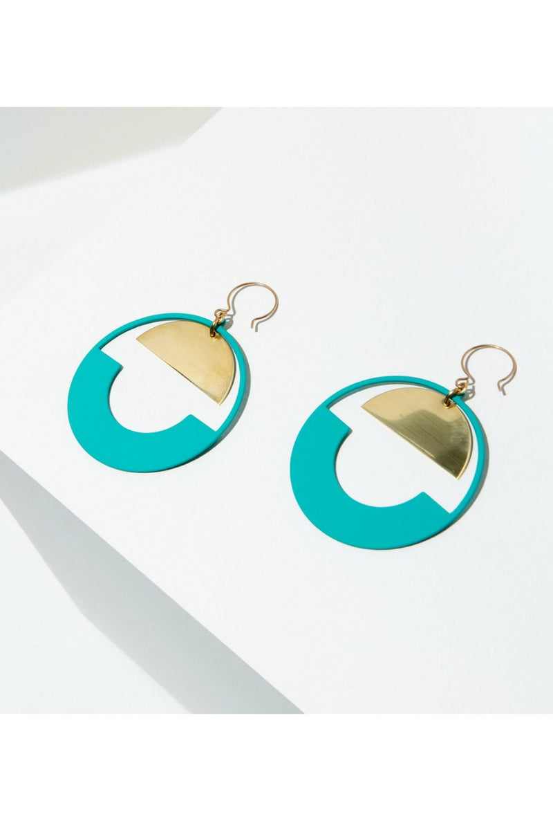 Larissa Loden Baltic Hoop Earrings - Turquoise