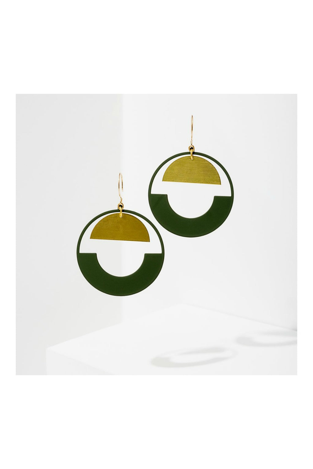 Larissa Loden Baltic Hoop Earrings - Green